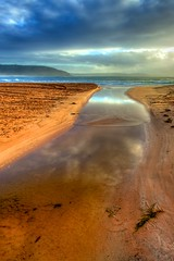 Backwash (James.Breeze) Tags: ocean blue seascape reflection beach water landscape sand seascapes cloudy australia palmbeach saltwater northernbeaches tonemapped ef1740mmf4lusm jamesbreeze
