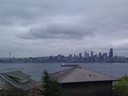 Downtown Seattle in Spring, from the West
