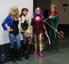 Costumers at Boston Comic Con 2011 (FranMoff) Tags: costume cosplay comiccon siren blackcanary mera costumer bostoncomiccon silkspectre bostoncomiccon2011 bostoncomicconday2