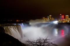 Niagara Falls (Angela Blanco Photography) Tags: longexposure ny newyork water night niagarafalls waterfall niagara falls slowshutterspeed