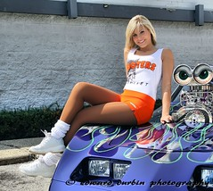 Hooters Poster Shoot 009 (Ed Durbin (Katodog)) Tags: girls cup car k bike poster hooters double shows series productions xi