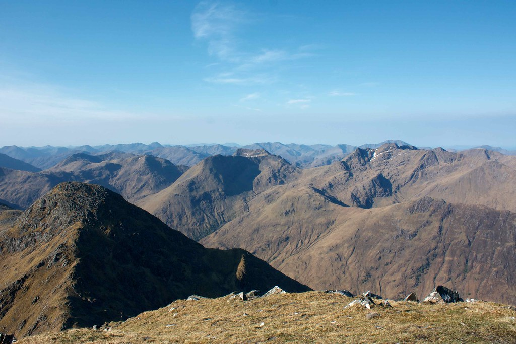 Towards Knoydart from Sgurr Fhuaran