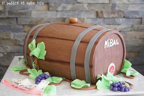 Tarta barril de vino