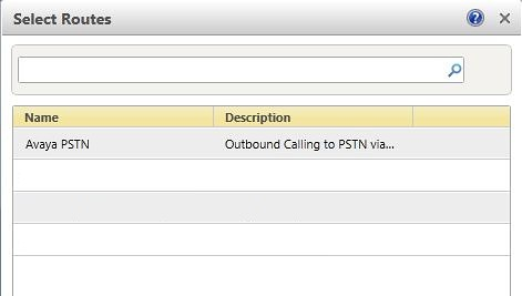 Select PSTN Route