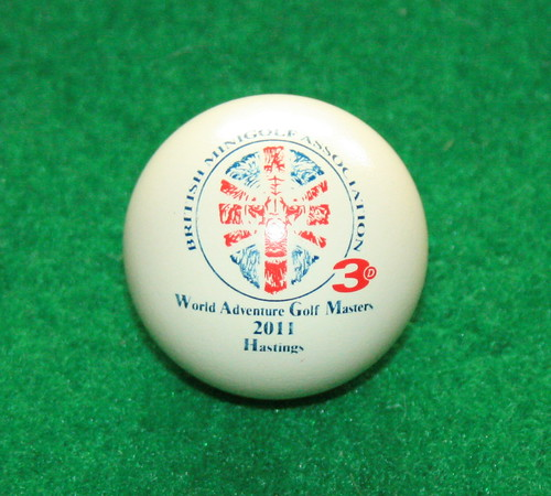 World Adventure Golf Masters ball