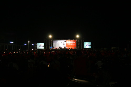 Red Shirts gather Ubon Ratchathani Thailand