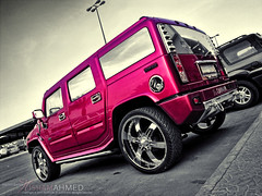 HUMMER-H2 (Hesham Ahmed's) Tags: camera pink 2 cars car photography 1 sony kingdom saudi arabia 111 hummer h2 riyadh ksa