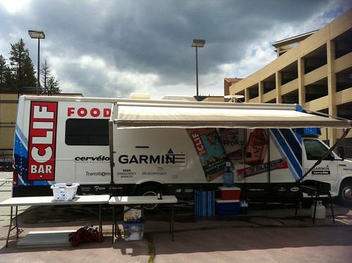 Clif Bar Food Mobile with Team Garmin-Cervelo