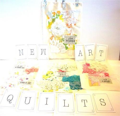 Art Quilt - Vintage, Handmade, Unique, OOAK, Vintage Fabrics, Trims, Inspiring