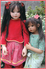 Himstedt Sinami (2008) and Ping Mei (2009) (Airelda) Tags: doll pingmei annettehimstedt farewellcollection