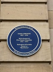 Photo of Emma Sproson blue plaque
