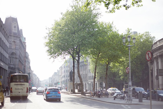 Dame Street in Haze