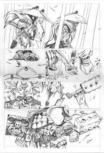 BattleMonk Chronicles page3 Rocketraygun pencilled kelvin chan