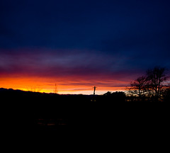 sunset at Calderglen (The Mucker) Tags: