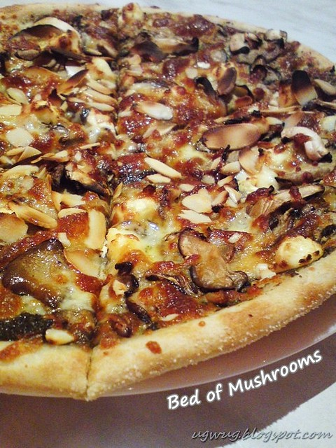 Bed Of Mushrooms Pizza