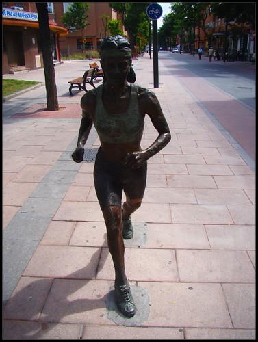 Estatua Corredora Getafe