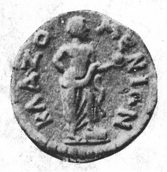 //Electrum coin//, Ionian people ~300 BCE. Anaxagoras holding a globe with his foot on a cippus.