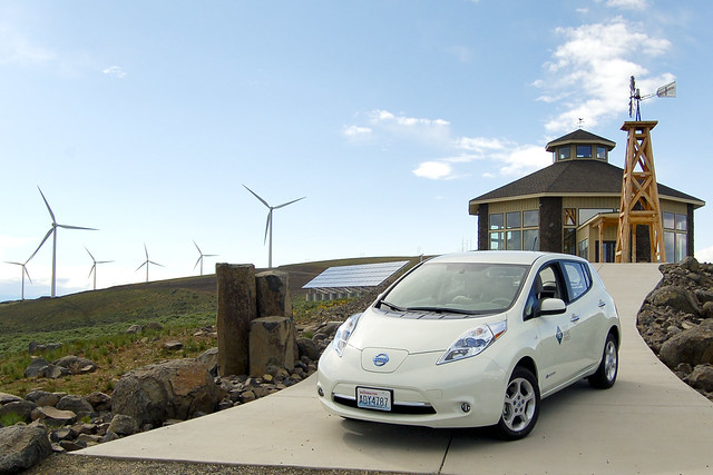 usa vehicle wa ellensburg electricvehicle wildhorsewindfacility nissanleaf