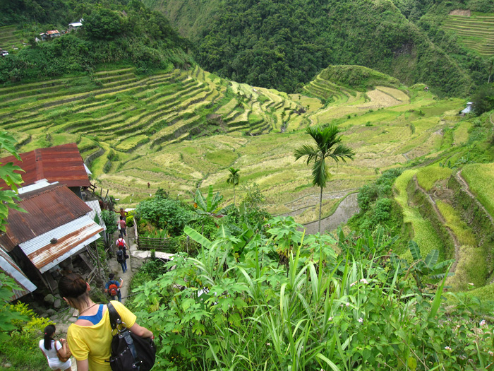 photo essay batad rice terraces in the trekking through batad