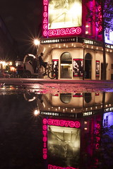 night business (maybemaq) Tags: street uk pink red england chicago black london rain bike bicycle night puddle theater neon colours play theatre britain geometry roundabout entrance violet symmetry musical signage coventgarden friday reflexions signboard aftertherain westend recent waterreflection fridaynight sevendials wetstreet winered monmouthstreet biketaxi cambridgetheatre wetreflection posttheater maybemaq the4elements nightbusiness
