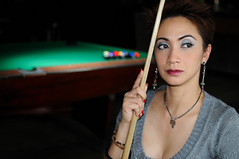 When the Game is Over (joelCgarcia) Tags: portrait bokeh sb600 pooltable cls d300 strobist 35mmf18g mariellelagdameo marblesbarandbilliard