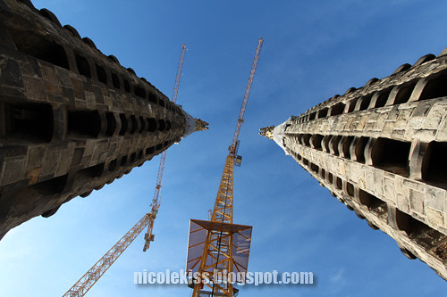 twin towers of sagrada familia