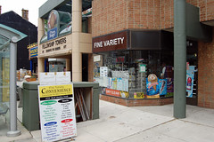 Yonge St - June 11, 2011 (collations) Tags: toronto ontario architecture documentary vernacular streetscapes builtenvironment cornerstores conveniencestores urbanfabric varietystores