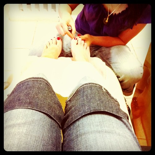 Every beach vacation requires a pedicure. Pure heaven.