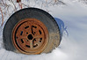 McLean's_0051 (janetliz) Tags: old winter cars wheel rusty tire scrapyard tpmg mcleans