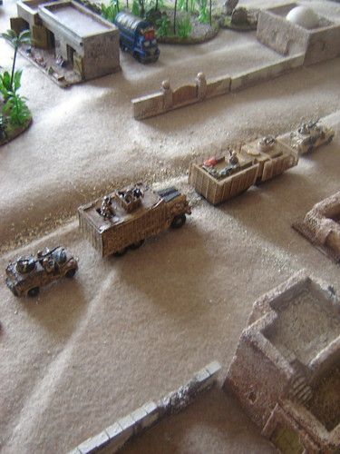 British convoy moving through Sangin