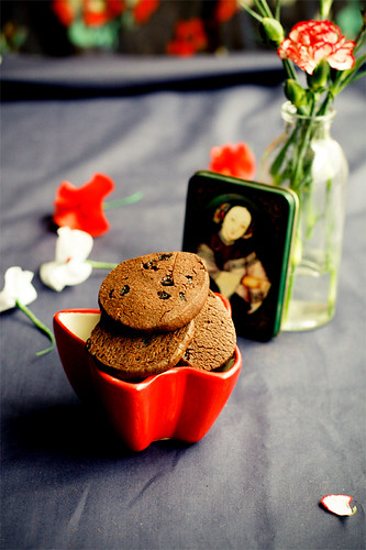 Rich dark chocolate cookies