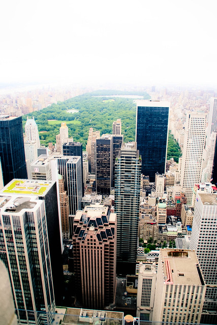 View of Central Park from the top of 30 Rock