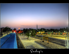 Early morning @ kumbakonam (Sandeep.Shukla) Tags: morning india station canon photography eos early sandeep processed hdr sandeeps kumbakonam shukla indianview 1000d canoneos1000d sandeepsphotography sndpshukla sandeepshukla