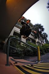 Hippy Jump (Franklurks) Tags: sports canon dof skateboarding florida action fisheye skate anthony popular palmbeach shutterspeed t3i hippyjump imnot opteka 561