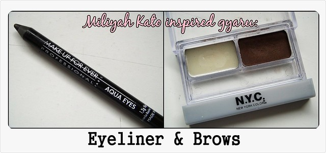 Miliyah insp. Gyaru makeup---products