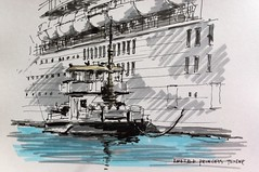 Port of Southampton (si newell) Tags: drawing ships southampton