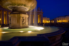 Roman Holiday (Tiziano Photography) Tags: light panorama rome roma fountain night landscape nikon sanpietro fontana luce paesaggio notturno d610 sanpeter nikond610