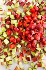 Strawberries and Rhubarb (AmyRothPhoto) Tags: fruit spring strawberries rhubarb