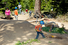 Corral Volunteer Day May 17, 2014 (TAMBA Tahoe) Tags: mountain lake bike construction south may tahoe trail biking volunteer build corral 2014 tamba