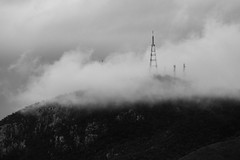 Foggy Daze at Mount Stuart 3 (David Mecys) Tags: blackandwhite monochrome australia townsville farnorthqueensland mtstuart mountstuart