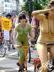 you are sleep (lulugaia) Tags: uk beauty bike naked togetherness brighton ride bicicle cicle cicling brightonnakedbikeride lulugaia lilianarodriguez june2014