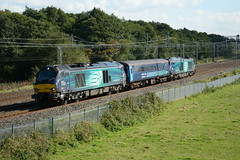 68021 Slindon 03/10/2016 (Brad Joyce 37) Tags: 68021 68016 17159 drs class68 5z17 slindon staffordshire directrailservices blue green sunshine locomotive train engine diesel mk2 carriage ecs