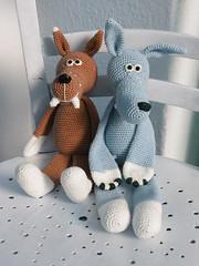 2011_06112Wolf0021 braun und blau (Pfiffigste Fotos) Tags: wolf pattern amigurumi crocheted hkeln hkelanleitung gehkelter hkelblog