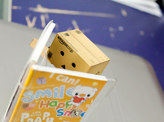 Try to inspire myself by reading (Jelowish) Tags: comics toys pig box books read danbo danboard