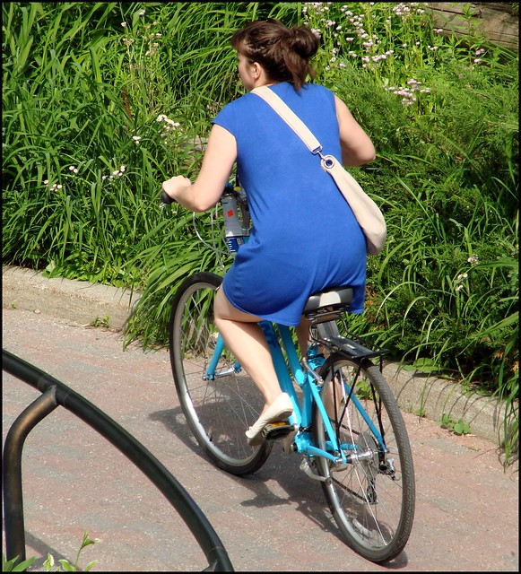 Blue dress bike