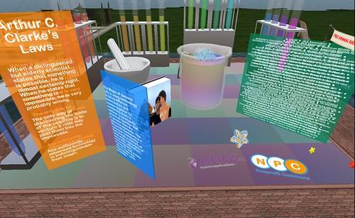 NPC exhibit at Second Life Eighth Anniversary Sim