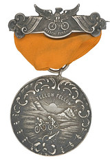 Yellow Fellow medal with ribbon