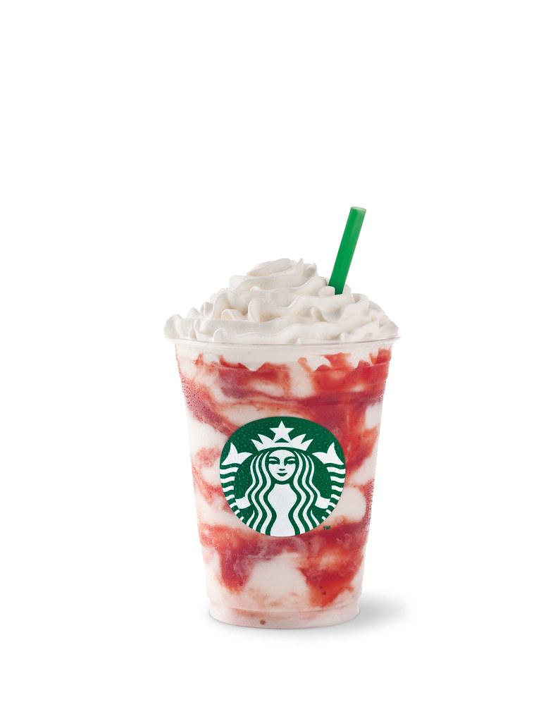 Soy Strawberries and Cream Frappuccino blended beverage