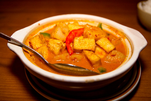 Pineapple Curry with Tofu at Nori Thai in St Pete Beach
