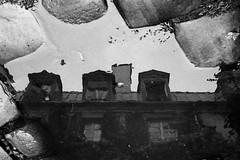Paris, passage Lhomme (flallier) Tags: paris 11e xie passagelhomme argentique film reflet reflets reflect reflects bastille popincourt 2011 hp5 yahoo:yourpictures=reflections reflections 75011 flallier françoislallier analog nikonf3 nikonf3hp 800iso yahoo:yourpictures=blackandwhite parissouslapluie passagesdeparis flaquedeau noiretblanc blackandwhite nb bw bnw mono monochrome 35mm